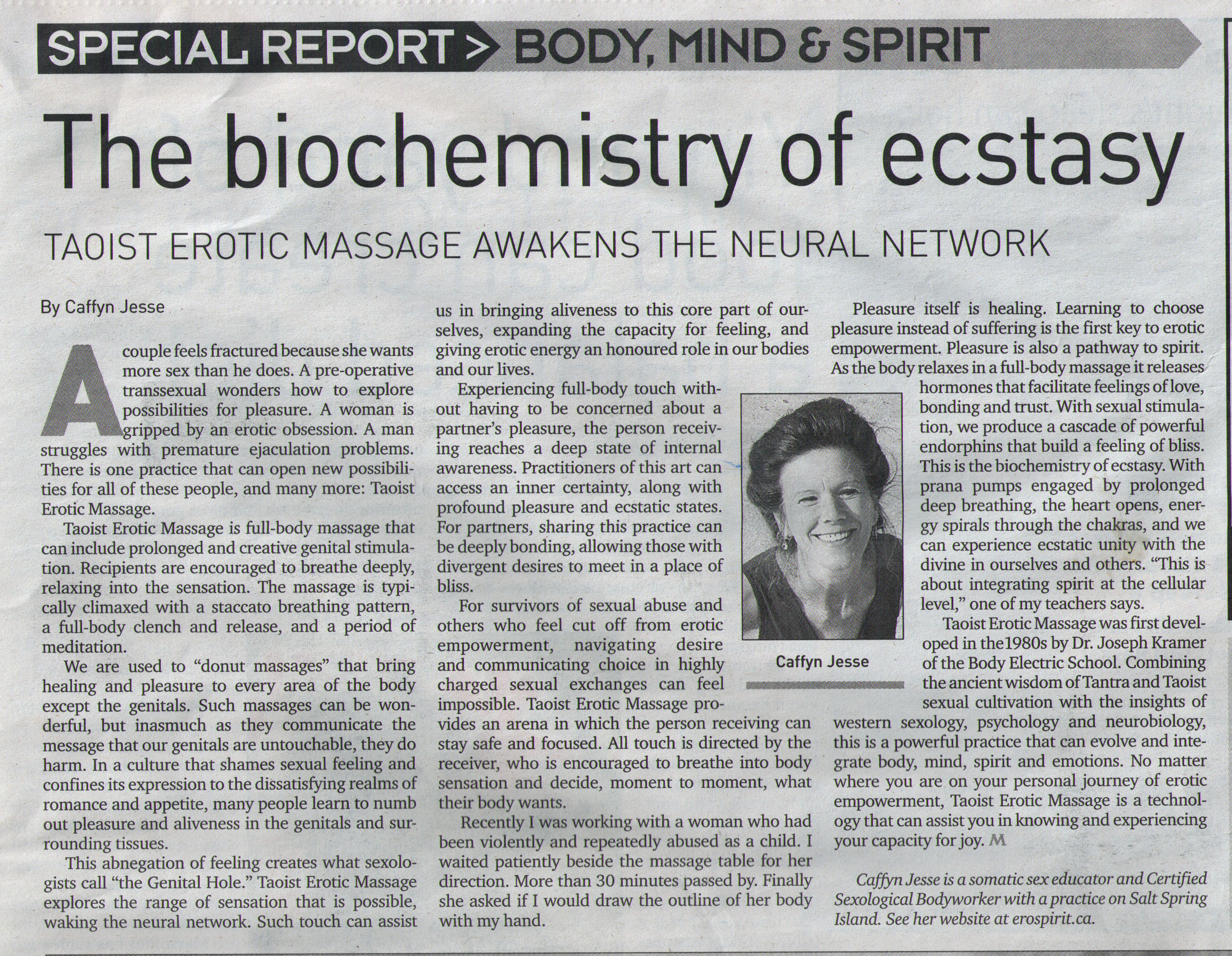 The Biochemistry of Ecstasy by Caffyn Jesse